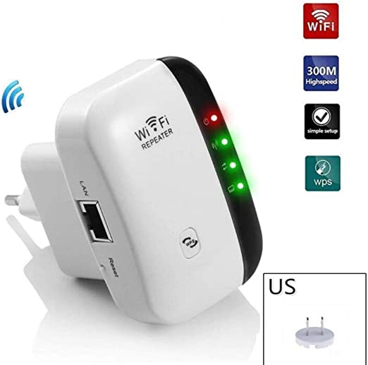 Wifi Repeater Wireless Range Extender 300Mbps Full Coverage WifiBlast Amplifier