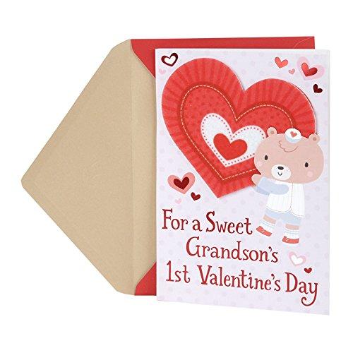 Hallmark Valentine's Day Greeting Card for Grandson (First Valentine's Day)