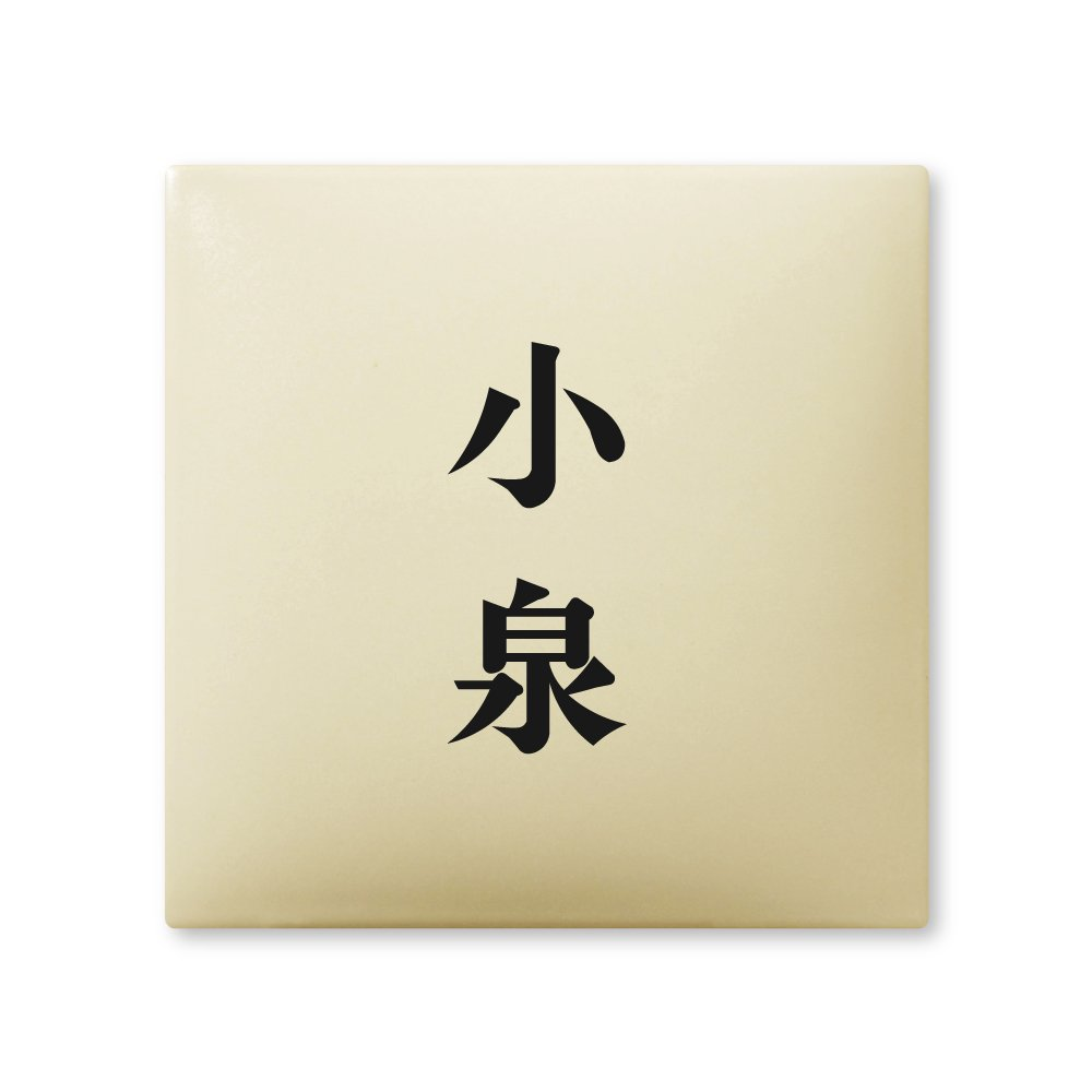 丸三タカギ 彫り込み済表札 【 小泉 】 完成品 アークタイル AR-1-2-2-小泉   B00RFA7A38