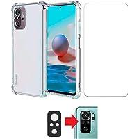 Kit Capa Anti Impacto e Película De Vidro + Película da Câmera Para Xiaomi Redmi Note 10