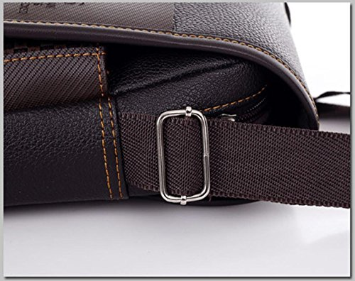Asatr Men Casual Leather Shoulder Messenger Bag for Men Work Outdoor Crossbody Bag by Asatr (Image #5)
