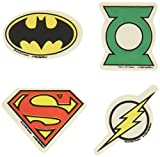 Amscan Boys Adventure Filled Justice League Birthday Party Eraser favors (Pack Of 12), Multicolor, 1 3/8