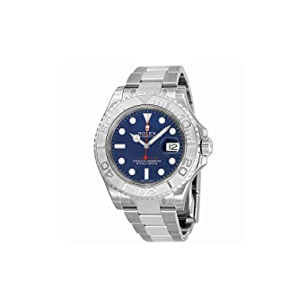 amazon com rolex yachtmaster steel and platinum blue dial mens rolex yachtmaster steel and platinum blue dial mens watch 116622blso