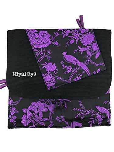 HiyaHiya Interchangeable Knitting or Crochet Needle Cases (purple & black) by HiyaHiya