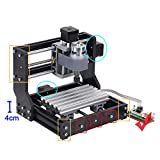 Upgrade Version CNC 1810 Pro GRBL Control DIY Mini CNC Machine, 3 Axis Pcb Milling Machine, Wood Router Engraver with Offline Controller, with ER11 and 5mm Extension Rod