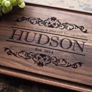 Custom Engraved Cutting Board - Meaningful Quote Design for Housewarming or Anniversary Gift (#301)