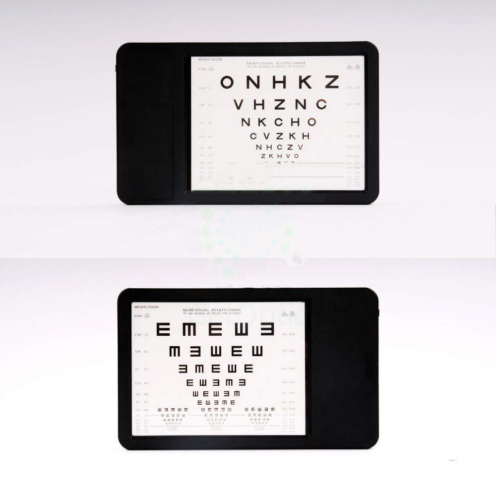 Huanyu Vision Chart Near LED Optical Visual Chart Lamp House Mini Optometry Tester with Ruler E Chart 40cm AC 100-240V (Transverse) by Huanyu (Image #2)