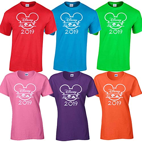 Disney World Matching t Shirts Family Vacation 2019 Magic Kingdom Epcot (Magic Electric Green, Adult Unisex-Medium) -
