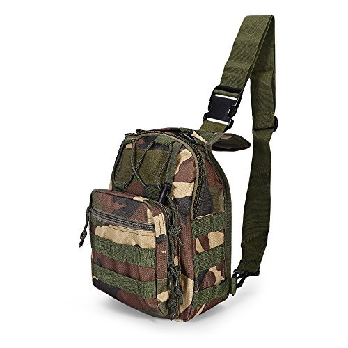 (X-Cat Tactical Backpack, 600D Outdoor Sports Shoulder Bag, Military Camouflage Camping Hiking Outdoor Backpack Utility (Jungle Camouflage))