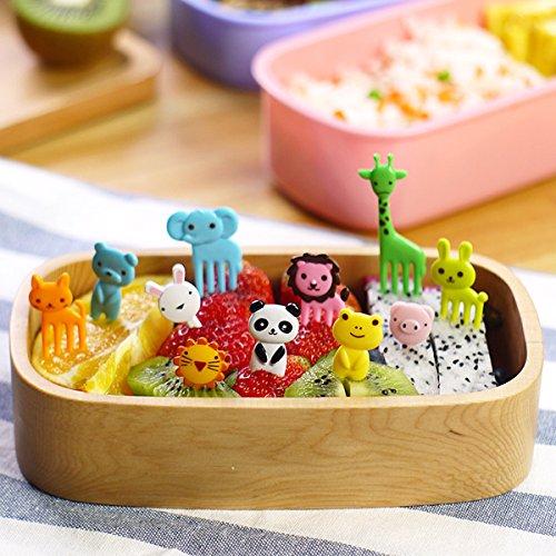 Dinnerware & Flatware - Mini Cartoon Zoo Animal Fruit Fork Resin Toothpick Decorative Plastic Forks Cutlery Set - Bento Mini Forks Resin Farm Animals Animal Picks Fork Decorative - 1PCs
