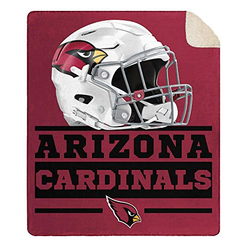 Officially Licensed NFL Cloud Throw Blanket with Sherpa Back, 60 x 70 (Arizona Cardinals ()