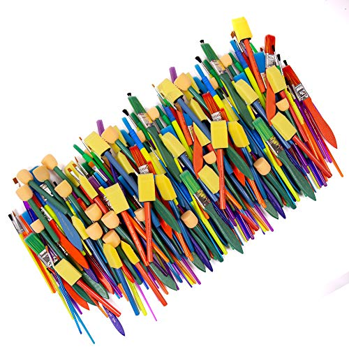 Horizon Group USA Paint Brushes - Assorted Sizes, Set of 250, Assorted -