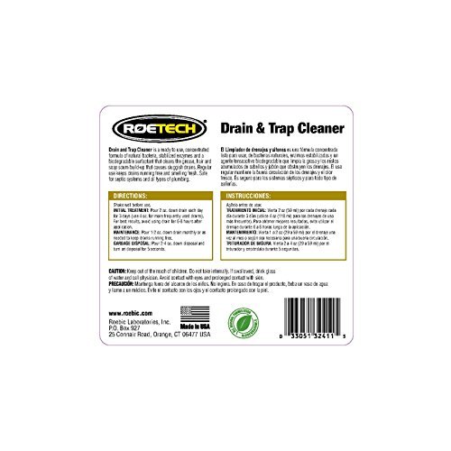 Roetech DTC-LC-H-3 Liquid Drain and Trap Cleaner (Pack of 3), 0.5 gallon by Roetech (Image #1)