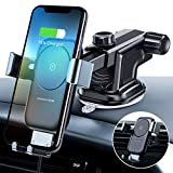 andobil Wireless Car Charger Mount, Auto-Clamping Fast Charging Phone Holder for Car Windshield Dashboard Air Vent, Compatible with iPhone Xs/Xs Max/XR/X/8,Samsung Galaxy S10/S10+/S10e/S9/S9+/S8/S8+
