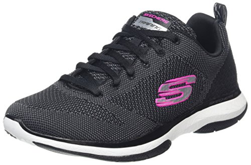 Trainer White Knit Close TR Black Women's Burst Skechers 8qwxAUU