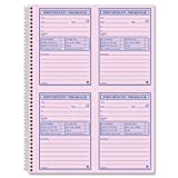 Adams Important Message Book, Spiral, 2-Part, Carbonless, Pink/Canary, 8.25 x 11 Inches, 4 Messages Per Page, 200 Sets Per Book (SC1184P)