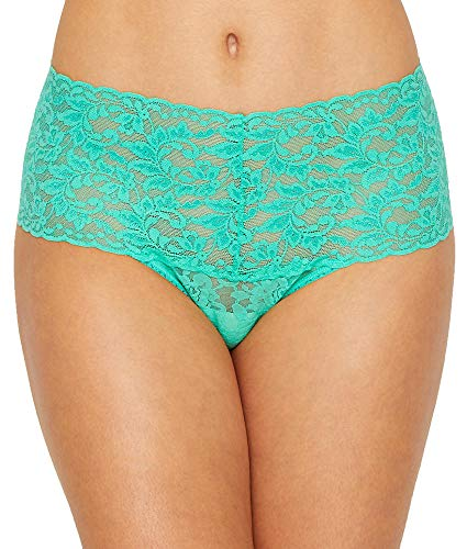 (Hanky Panky Signature Lace Retro Thong, One Size, Agave)