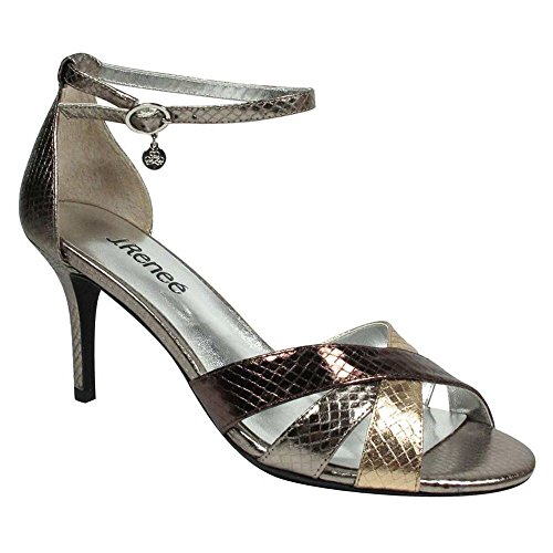 J. Renee Women's Hillrise D'Orsay Stiletto Nickel/Blush/Bronze Snake Print Fabric shop cheap online c39CONh