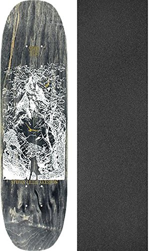 MoonshineスケートボードStefan Lillis Kesson MountainブラックStainスケートボードデッキ – アートby Chris Allision – 7.3 X 28.5