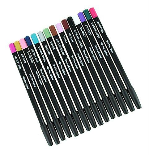 Eyeliner & Lip Liners 15 Color Pencil set Colored Eyeliner