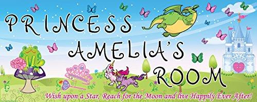 Mona Melisa Designs Customized Princess Amelia Name Sign Decorative Wall Sticker