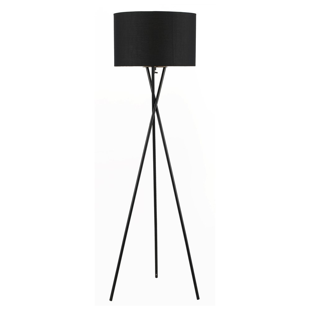 Euro style collection lisboa tripod metal body floor lamp black amazon com