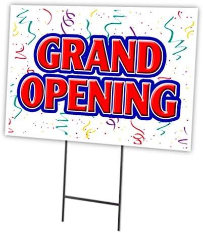 OPEN 24 HOURS Yard Sign /& Stake outdoor plastic coroplast window
