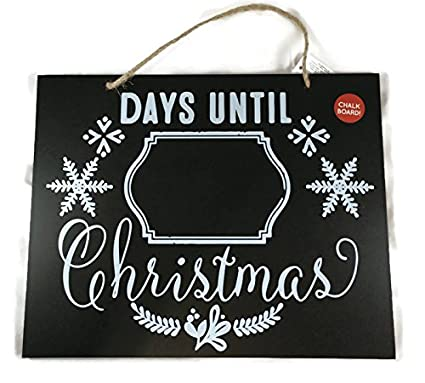Days Till Christmas Chalkboard.Amazon Com Days Until Christmas Chalkboard Hanging Sign
