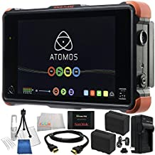 "Atomos Ninja Flame 7"" 4K HDMI Recording Monitor 19PC Bundle. Includes SanDisk 480GB Extreme Pro Solid State Drive + 2 Replacement F970 Batteries + AC/DC Rapid Home & Travel Charger + HDMI Cable + Deluxe Camera Starter Kit + Microfiber Cleaning Cloth"