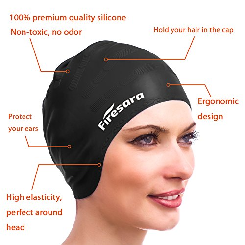how to wear swimming cap for long hair
