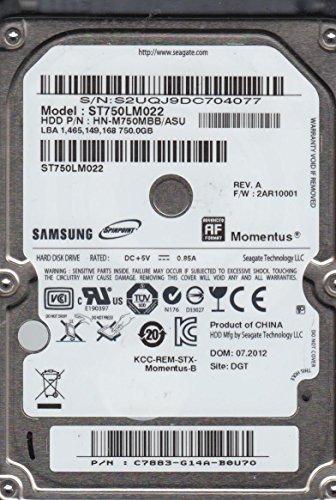 ST750LM022, HN-M750MBB/ASU, FW 2AR10001, Samsung 750GB SATA 2.5 Hard Drive