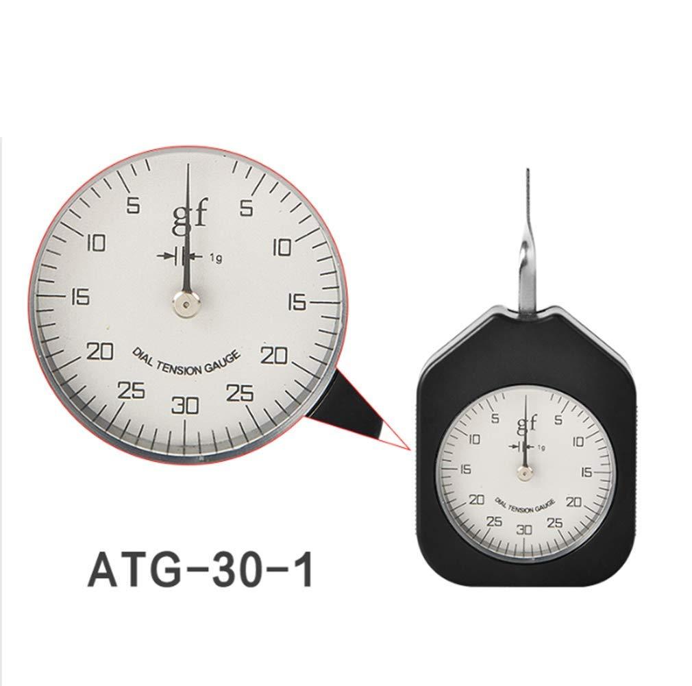 HFBTE Pocket Size ATG-30-1 Single Pointer Tension Gauge with 30g Max Measured Value Dial Tensionmeter Tension Meter by HFBTE