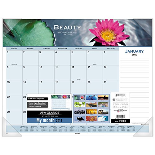 GLANCE Calendar Monthly Motivational Panoramic
