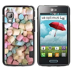 Paccase / SLIM PC / Aliminium Casa Carcasa Funda Case Cover - Colors Candy Sweets - LG Optimus L5 II Dual E455 E460