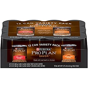 Purina Pro Plan SAVOR Wet Dog Food Variety Pack - Twelve (12) 13 oz. Cans