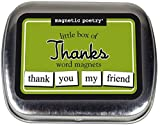 Magnetic Poetry - Little Box of Thanks Kit - Words for Refrigerator - Write Poems and Letters on the Fridge - Made in the USA