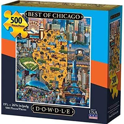 Dowdle Jigsaw Puzzle - Best of Chicago - 500 Piece: Toys & Games