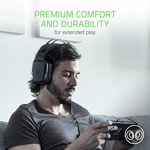 Razer Tiamat 2.2 v2 Gaming Headset: Dual Subwoofers - In-Line Audio Control - Rotatable Boom Mic - Works with PC - Classic Black, BLACK (RZ04-02080100-R3U1)