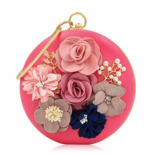 Bag Party Flower Purse Day NEW Evening Female Clutch Ladies Wedding Rose Women Clutches Bag Bags w4FOZq