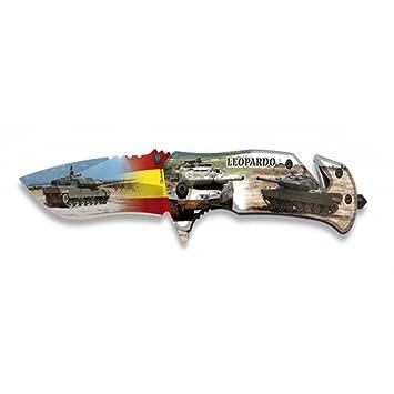 Albainox Navaja Fos Impresion 3D Leopard Hoja 8,2 CM: Amazon ...