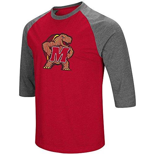 Colosseum Mens Maryland Terrapins 3/4 Sleeve Raglan Tee Shirt - XL