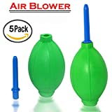 New Rubber Air Pump Cleaner Dust Blower for Keyboard,Digital SLR Camera, Lens, Watch, Cell Phone, Computer Laptop PC and Screen - Green (5 PACK)
