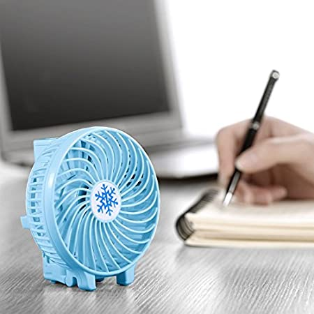 Black Hey Song Mini Handheld Fan Foldable Personal Portable Desk Desktop Table Cooling Fan with USB Rechargeable Battery Operated Electric Fan for Office Room Outdoor Household
