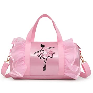 Amazon.com: SHZONS Ballet Bags, Childrens Dance Bag ...