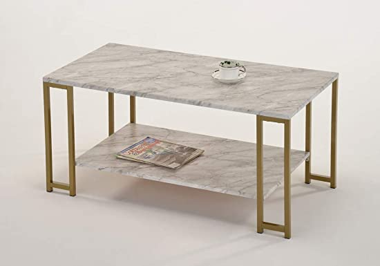 Marble Faux Rectangular Coffee Table