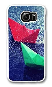 Colourful Origami Custom Samsung Galaxy S6/Samsung S6 Case Cover Polycarbonate White