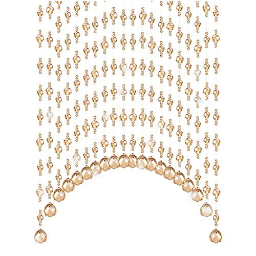 - GuoWei Crystal Beaded Curtains Arch Shape for Doorway Room Divider Home Decor Hanging Strings, Customizable (Color : A, Size : 45 strands-180x90cm)