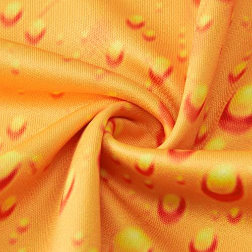 RAISEVERN Unisex Casual 3D - Bier - Muster gedruckt Short T-Shirts Top Tees Gelb