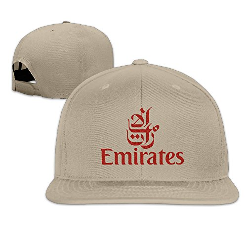 Emirates Bright Red Airway Logo  Adjustable Flat Bill Hat  8 Colors