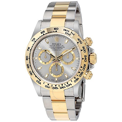(Rolex Oyster Perpetual Cosmograph Daytona 40mm Stainless Steel Case, 18K Yellow Gold Tachymeter Engraved Bezel, Gey Dial, Stainless Steel And 18K Yellow Gold Oysterlock Bracelet.)